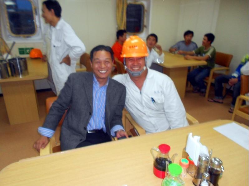 郭峰大管及宋盈盈小姐到上海长兴岛造船厂